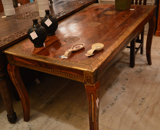 Brass Work 6 Seater Dining Table