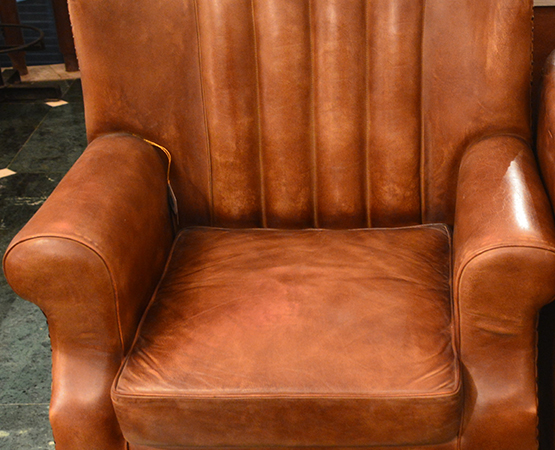 Accent Chair Leather High Back