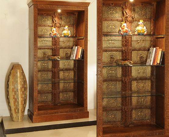 Brass Door Book Shelf