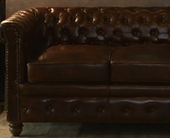 Chester Field 3 Seater Leather Sofa