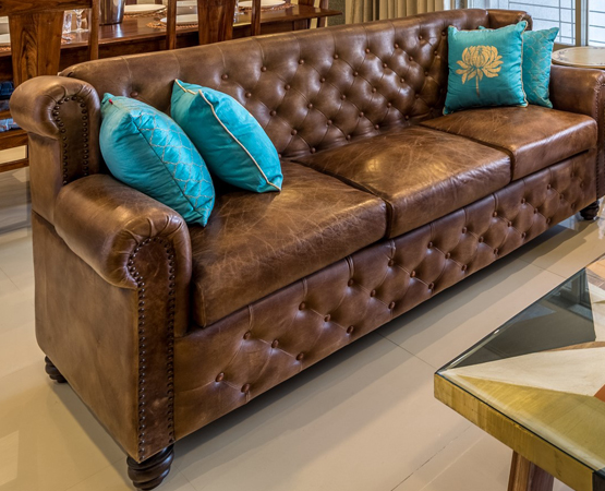 Chester 3 Seater Leather Sofa