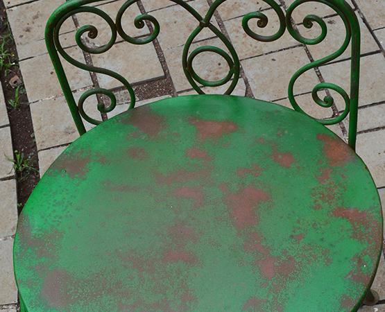 Metal Green Chair