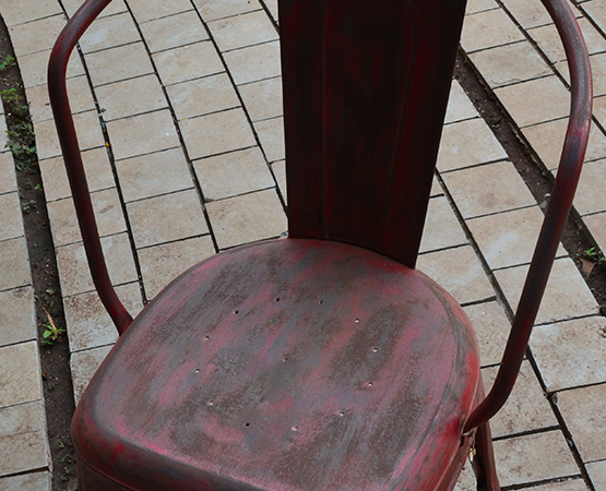 Metal Red Chair