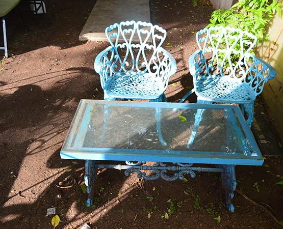 Outdoor Cast Iron Furniture