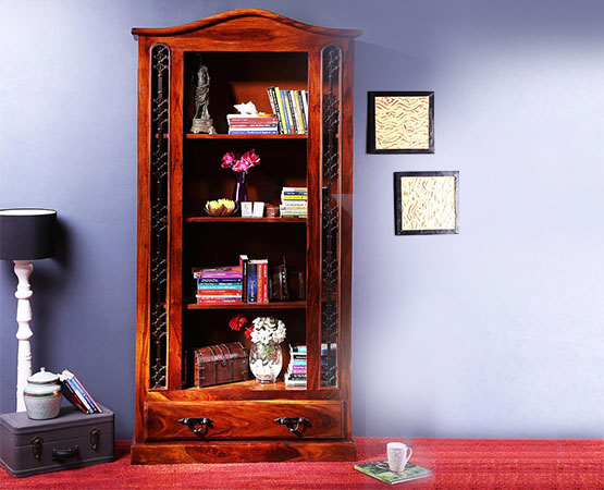 Sophisticated Wood Display Unit