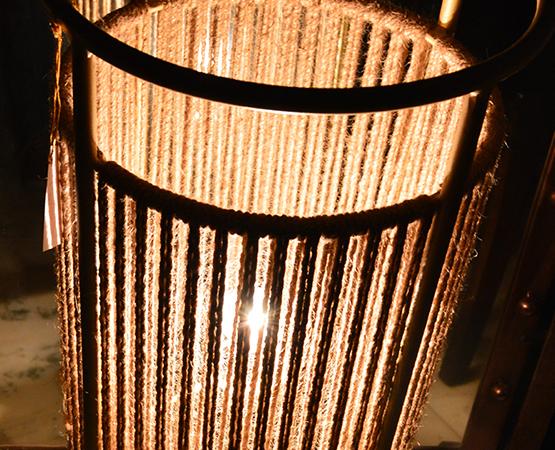 T & T Jute Lamp