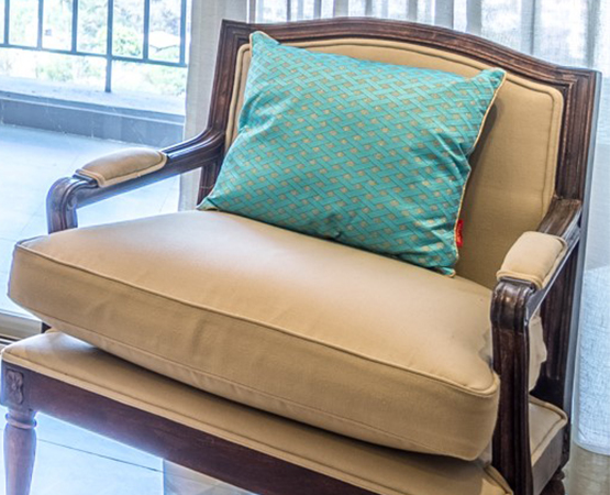 Wooden Single Upholstered Sofa