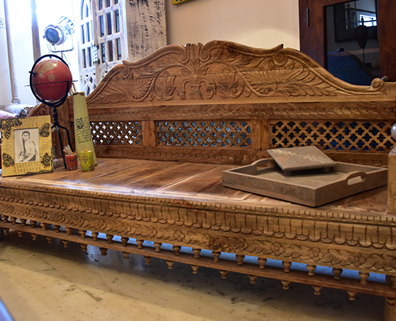 Carved Wooden Sofa